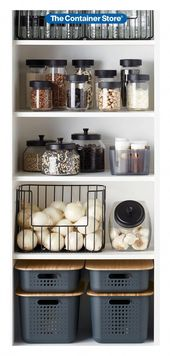 Easy pantry organization ideas  –  technology #pantryorganization