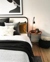 Wir lieben den Industrial-Stil im Schlafzimmer.