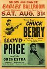 AD58 Vintage 1950's Rock /& Roll Show Chuck Berry Concert Poster Re-Print A3//A4