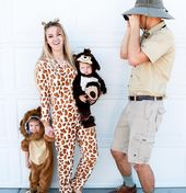 Family Halloween costume. Family zoo. Halloween costume