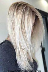8.Blonde Lange Frisur