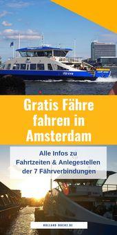 Kostenlose Fähren in Amsterdam: Infos zu Ablegern & Zeiten