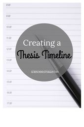 Gradschoolstruggle Com Thesi Writing Academic Dissertation Timetable Example