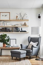 STRANDMON Wing chair – Nordvalla dark gray