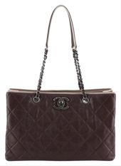 Chanel Be Caviar Quilted Caviar Medium Red Leather Tote