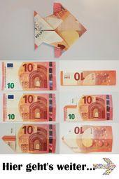Fisch aus einem Geldschein falten – Tutorial – Anleitung – Geldscheine falten: Tiere – Foto-Anleitungen