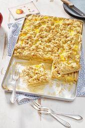 Torta de maçã com creme   – Kuchen Backen – Rezepte