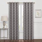 Liz Claiborne Westfield Embroidery Room Darkening Grommet Curtain