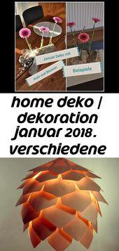 Home deko / dekoration januar 2018. verschiedene beispiele. deko mit holz und tu…