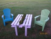 DIY Pallet Planter Table made by ME! : ) and paint…