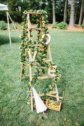 25 Cool Ideas To Use A Ladder At Your Wedding