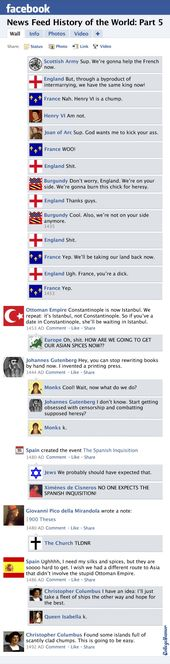 Fb Information Feed Historical past of the World: Hundred Years' Battle to the New World
