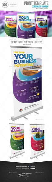 #Corporate #Roll Up Banner - #Signage Print Templates