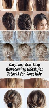 Gorgeous And Easy Homecoming Hairstyles Tutorial For Long Hair – DE