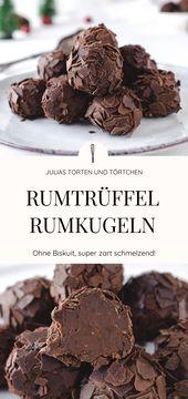 Bolas de rum ou Rumtrüffel   – Backen