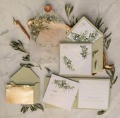 """Wedding invitations are an integral part of a wedding's style and the """"mood"""" you…"""