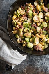 Roasted Brussels Sprouts with Bacon and Apples is a wonderfully savory side dish…   – Dinner