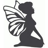 Silhouette Design Store: sitting fairy