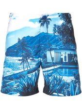 Orlebar Brown tropical print swim shorts – Blue