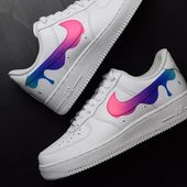 """""""Drip Tick"""" par des baskets personnalisées Nike Air Force 1 – Kimberly – #Ai"""