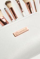 bh cosmetics Rose Romance 12-Piece Brush Set – metallic at City Outfitters