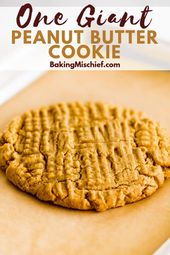 This recipe for One Peanut Butter Cookie makes a 6…