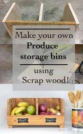 DIY Gemüseaufbewahrungsbehälter mit Teilern