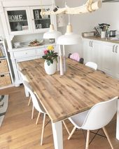 DIY dining lamp in the trendy Scandinavian style with very simple means, …