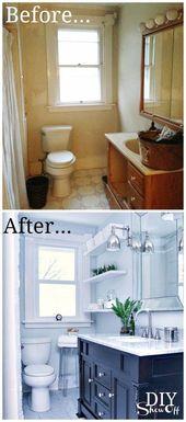 Bathroom Before and After – DIY Show Off ™ – DIY…  #LiposculptureBeforeandAf…