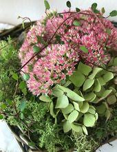 Herbstdeko-Ideen mit Fette Henne und Hortensien – ❤❤ tolle Deko Ideen/Decoration ideas ❤❤