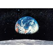 Komar 106 In X 153 In Earth Moon Wall Mural 8 019 At The Home Depot For Stand Repeat With Flag Prop In Front F Photo Mural Large Wall Murals Wall Murals