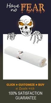 Happy Halloween Spooky Cat und Spider Serviettenband #halloween #spooky #black #spi …