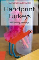 Handprint Turkeys: A Thanksgiving Kiddie Craft • Muddy Boots and Diamonds – Kids Activities