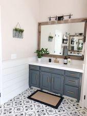 88 Glamour Bauernhaus Badezimmer Dekor Ideen mit kleinem Budget