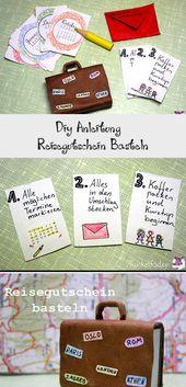 Diy Anleitung  – Reisegutschein Basteln