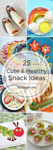 25+ Cute and Healthy Snack Ideas