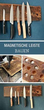 DIY: Messerblock aus Holz selberbauen, hängender …