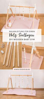 Bauanleitung für einen DIY Holz Spielbogen im skandinavischen Stil