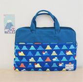 Laptop Bag / Laptop Pouch / MacBook Case 13 – 14 inches / Mount Fuji / Japan/Korea Fabric / 815am