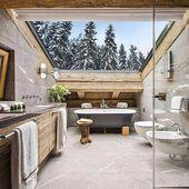 "Interior Design & Decor on Instagram: ""Amazing Bathroom in Verbier, Switzerland ? Author: ?"""