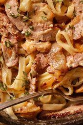 Recipe: Pasta with steak sauce  – Rezepte