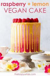 Veganer Himbeer-Zitronen-Kuchen [SPONSORED] – Dieser vegane Himbeer-Zitronen-Kuchen …   – Yummy Kuchen