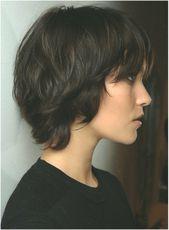 Kurzhaarschnitt für dickes Haar #frisuren #Dickes #frisurenschnitt #fr #Haar