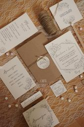 Shabby Chic Padova Veneto Country Wedding Invitations Shabby Chic Wedding Invitations Country Wedding Invitations Country Wedding