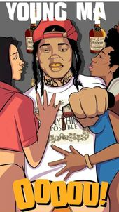 Pin By Johnoi Francis On Young M A Young Ma Comic Book Cover Rappers