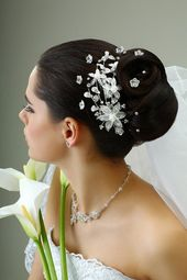 wedding hairstyles pinned up hairstyle with elegant jewelry – #elegant #Frisu …