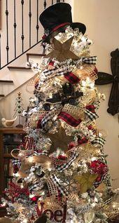 Easy DIY Rustic and Farmhouse Christmas Decorations – Buffalo Check Christmas Trees