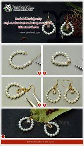 #PandaHall #Jewellery #Pearls #DIY White #Pearl Bead Hoop #Earrings with #Rh… – Diyjewelryeasy.club