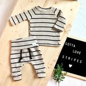 Waffle stripe outfit, gender neutral baby outfit, take home outfit, baby boy clothes – baby stuff