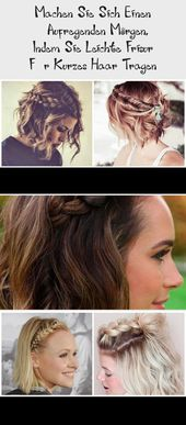 Make yourself an exciting morning by wearing light hairstyle for short hair